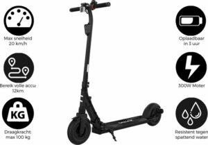 Denver SCO-80130 - 8'' Elektrische step - E-Step met aluminium frame - E-Scooter - Zwart