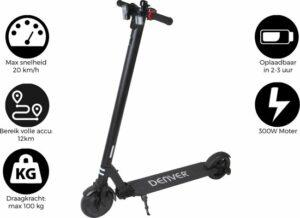Denver SEL-65220 - Elektrische step - 6.5 Banden - Inklapbaar - Met LED verlichting - Zwart
