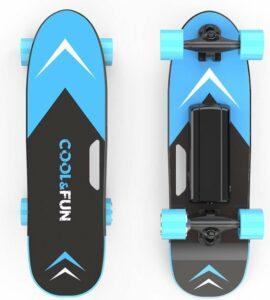 Elektrisch Skateboard met afstandsbediening - 150W - 12-15 kmu - Blauw