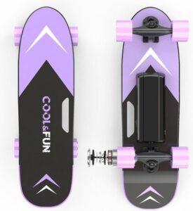 Elektrisch Skateboard met afstandsbediening - 150W - 12-15 kmu - Paars