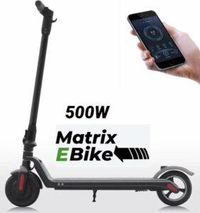 Matrix E Bike Pro FX8 - Maximale Snelheid 30kmh - 500 Watt Motor - Elektrische step - Zwart - IOS - ANDRIOD - APP